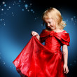 Red festive dress — Stock Photo