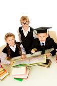 Educação de filhos — Fotografia Stock