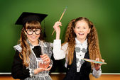 Research girls — Stock Photo