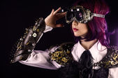 Steampunk girl — Stock Photo