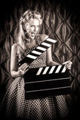Vintage filmaker — Stock Photo