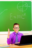 Excellent pupil — Stock Photo