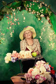 Granny garden — Stock Photo