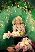 Granny garden — Stock Photo