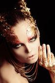 Golden brows — Stock Photo