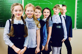 Group of schoolchildren — Foto Stock