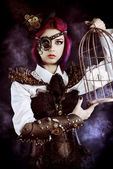 Steampunk garden — Stock Photo