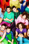 Crowd of friends — Stock Photo