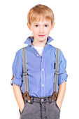 Boy stands — Stock Photo
