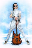 Guitarist guy — Stock Photo