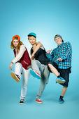 Trio dance — Stock Photo