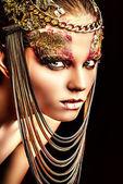 Golden lady — Foto Stock