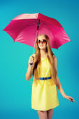 Fuchsia umbrella — Stock Photo