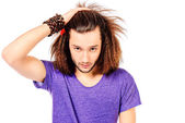 Man hairstyle — Stockfoto