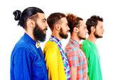 Men in profile — Stock Photo