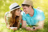 Huwelijksreis glimlach — Stockfoto