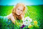 Child on a meadow — Stock Photo