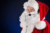 Hotline santa — Stock Photo