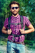 Forest hiker — Stock Photo