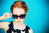 Pin-up sunglasses — Stock Photo