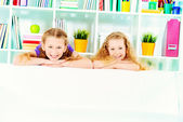 Sisters at home — Stock Photo