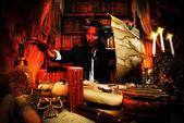 长角的恶魔 — 图库照片