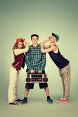 Trio dancer — Stock Photo