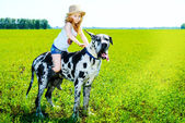 Kız kovboy — Stok fotoğraf