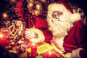Santa claus hem — Stockfoto
