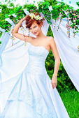 Redhaired bride — Stock Photo