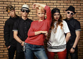 Dansgrupp — Stockfoto