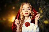 Red cloak — Stock Photo