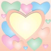 Pastel valentine card. — Stock Photo