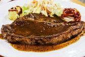 Low cost t-bone steak — Stock Photo
