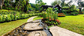 Panorama Landscaping in the garden. — Stockfoto