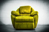 Yellow luxury sofa contemporary style in vintage room  — 图库照片
