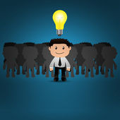 Businessman bright idea.EPS10 — Stock Vector