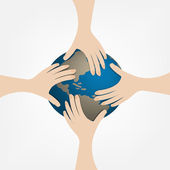 Hand globe — Stock Vector