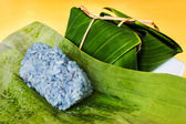Sticky rice in banana leaf  — Stock Photo