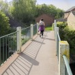 Footbridge - Stockfoto