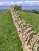 Dry stone wall — Stock Photo