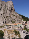 The town of sisteron in provence france — Stock Photo