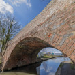 Stock Photo: Bridge on canal on inland waterways network