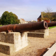 Stock Photo: Cannons on old battlements at caen Normandy