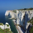 Stock Photo: Cliffs on coast of Normandy