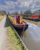 Colorfull boat on a canal — Stock Photo
