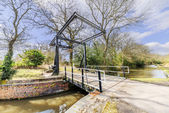 A canal on the inland waterways network — Stock Photo