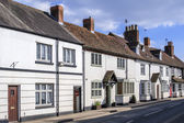 The high street Henley in Arden village — Stock Photo
