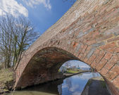 A bridge on a canal on the inland waterways network — Stock Photo