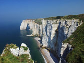 Cliffs on the coast of Normandy — Stock Photo